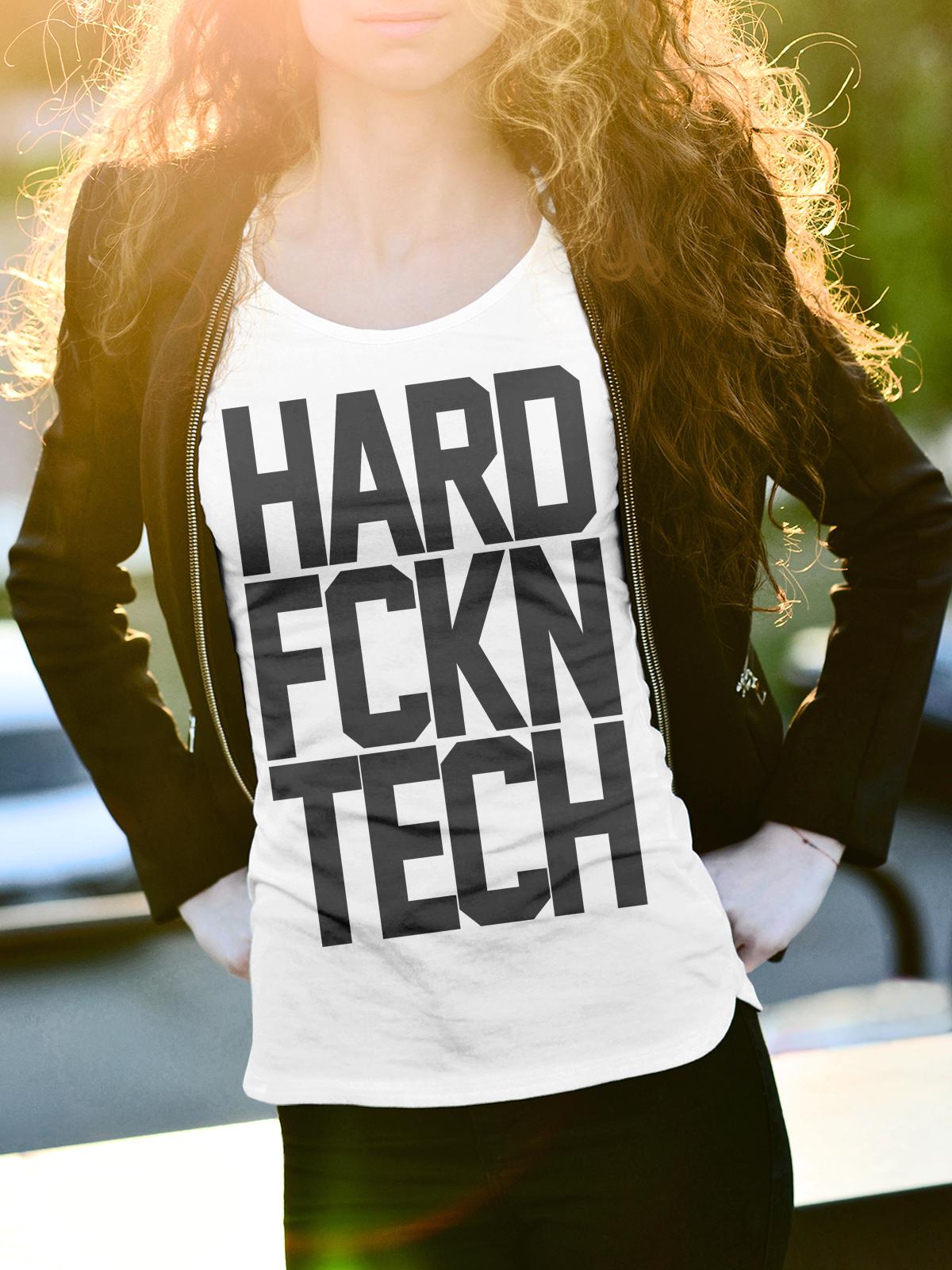 HARD FCKN TECH Női Póló - TECHNO STYLE 8ad5cbabcf