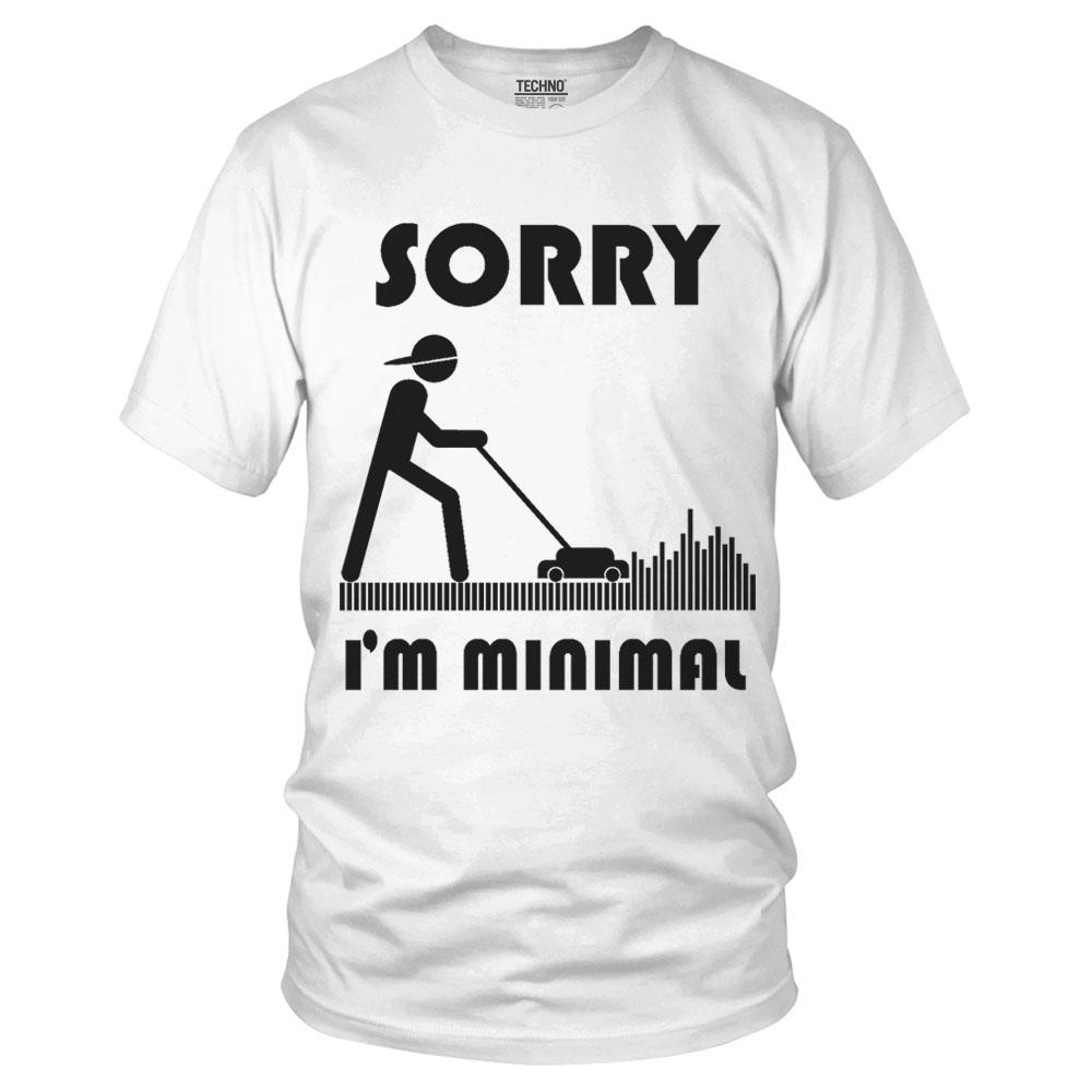 Sorry I m Minimal Techno Style Férfi Póló fehér