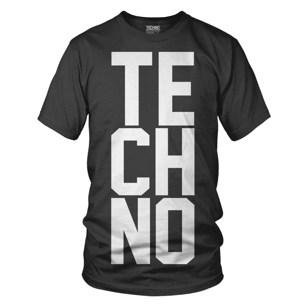 Techno Póló férfi fekete