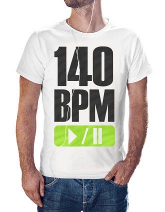 d3f9245e98 140 BPM TECHNO Férfi Póló Fehér ...