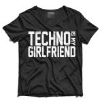 TECHNO IS MY GIRLFRIEND Férfi Póló