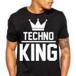 TECHNO King Férfi Póló fekete