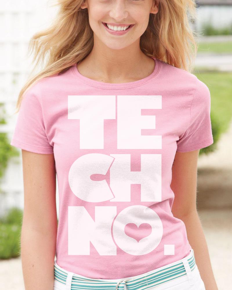 Akció! TECHNO. Női póló Pink Rózsaszín 510322509d