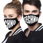 Techno arc maszk fekete