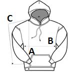 Kapucnis Pulóver Mérettáblázat
